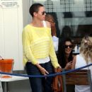 Charlize Theron: eating at Café Caprice in Cape Town