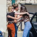 Emma Roberts in Orange Pants – Out in Los Angeles