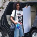 Kelly Rowland – Heading to a studio in Los Angeles