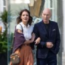 Katie Holmes and Patrick Stewart out in Montreal - 454 x 304