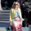 "Busy Philipps: films scenes for ""Cougar Town"" on Venice Beach"