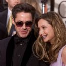 Robert Downey Jr. and Calista Flockhart attends The 58th Annual Golden Globe Awards (2001)