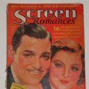 Clark Gable, Myrna Loy - Screen Romances Magazine Cover [United States] (April 1936)