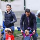 Jennifer Garner And Ben Affleck Take Their Children To A Soccer Training Camp And A Playground In LA - July 31, 2010