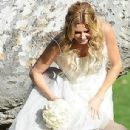 Brandi Glanville gives new meaning to the term 'blushing bride' as a series of  mishaps mar her bridal shoot - 306 x 571