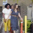 Jessica Alba in Blue Dress – Visits her friends in Santa Monica - 454 x 562