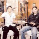 Fernando  Gago con Javier Saviola