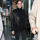Felicity Jones arriving on a flight at LAX airport in Los Angeles, California on January 7, 2015