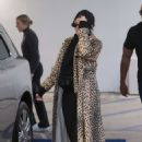 Kylie Jenner in Animal Print Coat – Goes Christmas shopping at Moncler in Beverly Hills
