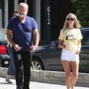 Kelsey Grammer and his wife stop by the Andy LeCompte Salon in West Hollywood, California on September 29, 2015 - 454 x 537