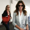 Cindy Crawford enjoyed lunch with mom-to-be actress Elizabeth Berkley at a local Beverly Hills, California on March 20, 2012