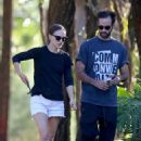 Natalie Portman – With husband Benjamin Millepied out in Sydney