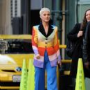 Katy Perry in Colorful Coat – Out in Los Angeles
