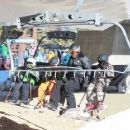 Seal enjoys a day of snowboarding at the Mammoth Mountain Resort in Mammoth, California on December 31, 2014