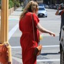 Kirsten Dunst in Red Dress out in Burbank