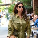 Lily Aldridge in Green Outfit – Out in New York City - 454 x 621
