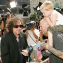 Singer Fred Durst of Limp Bizkit and son Dallas arrive at the Warner Bros. premiere of Charlie and the Chocolate Factory at the Grauman's Chinese Theatre on July 10, 2005 in Hollywood, CA