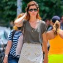Model and actress Stephanie Seymour going for a stroll through Soho in New York City, New York on June 27, 2014