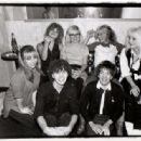 Blondie, B-Girls, Sable Starr, and Rodney Bingenheimer (Cynthia is the blonde kneeling on the far left.) - 454 x 316