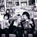 Stiv Bators and Cynthia Ross with Rodney Bingenheimer - 382 x 285
