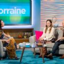 Elizabeth Olsen and Paul Bettany on 'Lorraine' TV show in London - 454 x 312