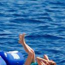Isla Fisher Wearing Swimsuit In St Tropez