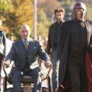 Ororo Munroe (Storm), Professor Charles Xavier, Logan (Wolverine) and Eric Lensherr (Magneto)