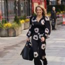 Charlotte Hawkins – Out in a floral jump suit at Classic FM in London - 454 x 681