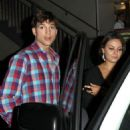 Ashton Kutcher and Mila Kunis: out for a dinner date in West Hollywood
