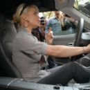 Jessica Simpson Sits In A Chrysler Crossfire SRT8 At The VMA Style Villa, August 31 2006