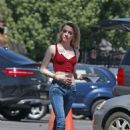 Amber Heard in Jeans on 'Gully' set in Los Angeles