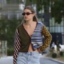 Gigi Hadid in Jeans Shorts – Out in Milan