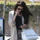 Selena Gomez stops for lunch at Kabuki with a friend on June 10, 2013 in Encino, California - 454 x 633