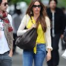 .Sofía Vergara picks up some cherries as she and her 20-year-old son, Manolo Gonzalez, shop in Soho