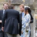 Meghan Markle and Prince Harry – Celia McCorquodale and George Woodhouse's wedding in Stoke Rockford - 454 x 681