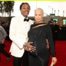 Amber Rose and Wiz Khalifa arrive at the 55th Annual GRAMMY Awards at the Staples Center in Los Angeles, California - February 10, 2013 - 454 x 304