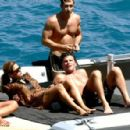 Eva Mendes And George Gargurevich On Dolce & Gabbana Yacht In Italy