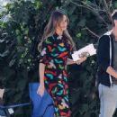 Sofia Vergara – Film scenes for the final season of 'Modern Family' in LA