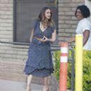 Jessica Alba in Blue Dress – Visits her friends in Santa Monica - 454 x 498