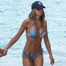 Lauren Pope in Blue Bikini on the beach in Barbados - 454 x 562