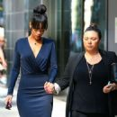 Rihanna made her exit from her New York City hotel in New York on July 6, 2012 to attend her grandmother Clara 'Dolly' Brathwaite's funeral - 454 x 585