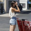 Kendall Jenner out shopping with their mom, Kris Jenner (August 11)