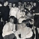 She dated Brian Jones from the Rolling Stones and turned down his bandmate Mick Jagger (pictured together front)  at the 1965 NME awards - 454 x 508