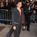 "Norah Jones - Arriving At ""The Late Show With David Letterman"" - April 2 2008"