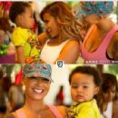 Amber Rose and Tamar Braxton attend a birthday party for Christina Milian's Daughter in Los Angeles, California - March 9, 2014
