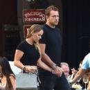 Caroline Wozniacki with fiance David Lee out in Portofino - 454 x 536