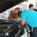 Mischa Barton's Car Breaks Down In West Hollywood