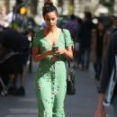 Rochelle Humes in Green Dress at Global Radio in London - 454 x 698