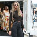Candice Swanepoel – Outside Zimmermann Show 2020 at New York Fashion Week - 454 x 454