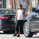 Lea Michele in Black Tights out in Los Angeles
